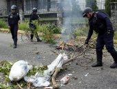 صور.. الاحتجاجات على نقص الغاز تتحول إلى مواجهات مع الشرطة فى فنزويلا