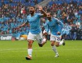 أجويرو يدخل تاريخ الدوري الإنجليزي بحفلة مانشستر سيتي ضد كارديف..فيديو