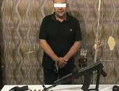 القبض على عاطل لإتجاره بالأسحلة النارية وبحوزته 4 قطع سلاح فى كفر الشيخ