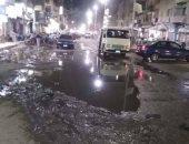مياه صرف والبلاعات وعامود إنارة على وشك السقوط يهدد شارع الفاروق بالشرقية