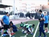 """شاهد.. مران بعثة """"المصرى البورسعيدى"""" قبل مباراة اتحاد العاصمة فى الجزائر"""