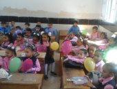 صور.. انطلاق الدراسة فى المدارس نظام الفترتين بالإسكندرية