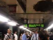 انهيار سقف محطة مترو أنفاق فى نيويورك يعطلها عن العمل.. فيديو وصور