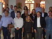السفير شريف عيسى يستقبل وفد الهيئة المصرية الوطنية للانتخابات بجنوب إفريقيا
