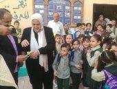 صور.. وكيل الإدارة التعليمة بدمنهور يزور مدرسة التحرير الابتدائية