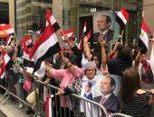 صور.. وقفة للجالية المصرية بنيويورك ضد الإرهاب ودقيقة حداد على أرواح الشهداء