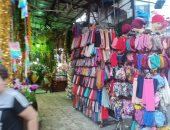 """صور.. """"زنقة الستات"""" أشهر سوق للسيدات متخصص فى الأقمشة بالإسكندرية"""