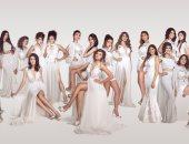 """صور.. متسابقات ملكة جمال مصر فى أحدث جلسة تصوير بـ""""الأبيض"""""""