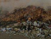 صور.. تلال القمامة تحاصر حديقة بدر وتغلق مدخل شارع الأربعين بجسر السويس