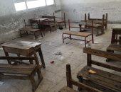 صور.. مدرسة المعمورة.. مقاعد مهشمة وأبواب متهالكة ودورات مياه غير صالحة