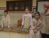 فيديو.. شاهد حماس تلاميذ بنى سويف أثناء تحية العلم فى أول أيام الدراسة