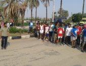 """صور.. إدارة شباب الطود بالأقصر تنفذ مهرجان """"المشى والجرى"""" بمشاركة 180 شابا"""