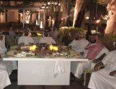 محمد بن سلمان يقيم مأدبة عشاء لضيوفه من الإمارات فى احتفالات اليوم الوطنى