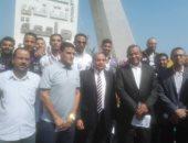 فيديو وصور ... رئيس جامعة بنى سويف يشهد تحية العلم ويطالب بالعمل بروح معناوية عالية