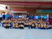 صور.. قيادات أمن شمال سيناء يوزعون هدايا العام الدراسى الجديد على الطلاب