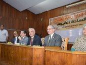 نواب رئيس جامعة المنوفية يشاركون طلاب التربية احتفالهم بالطلاب الجدد