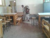 """استجابة لـ""""اليوم السابع"""".. الصحة تطهر مدرسة بسوهاج للقضاء على الثعابين"""