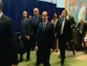 الرئيس السيسي يصل مقر الأمم المتحدة للمشاركة فى أعمال الجمعية العامة