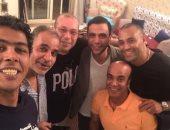 أعز الناس على قلبى.. صورة تجمع سليمان عيد ومحمد إمام ومحمود البزاوى