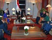السيسى يلتقى مديرة صندوق النقد الدولى ويؤكد حرص مصر على تهيئة مناخ الأعمال