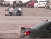 شاهد.. لقطات تحبس الأنفاس لفيضانات تجتاح المكسيك