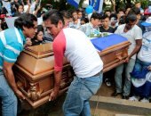 صور.. مواطنو نيكاراجوا يشيعون جثمان شاب بعد مقتله برصاص قوات الأمن