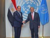 السيسي يؤكد دعم مصر لجهود الأمم المتحدة فى تحقيق السلم والأمن الدوليين
