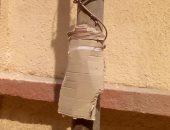 اضبط مخالفة.. تغطية أسلاك كهرباء مكشوفة بورق كارتون بغرب شبرا الخيمة