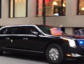 """فيديو.. تعرف على تفاصيل ومميزات سيارة """"ترامب"""" المصفحة"""