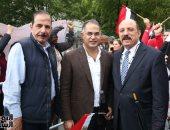 صور.. وكيل البرلمان يُشارك فى وقفة الجالية المصرية أمام الأمم المتحدة لدعم السيسى