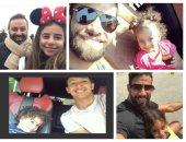 قصة صور.. السيلفى شعار نجوم الكرة مع أبنائهم