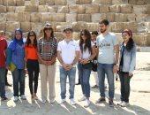 وزيرة الهجرة ونظيرها الأرمينى فى جولة بالأهرامات ضمن أسبوع الجاليات