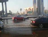 كثافات مرورية بسبب كسر ماسورة مياه بمحور المشير اتجاه مدينة نصر
