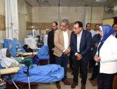 رئيس الوزراء يتفقد وحدة الغسيل الكلوى لمستشفى التأمين الصحى بسوهاج