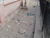 قارئ يشكو من سوء حالة  رصيف مشاه بمحطة مترو جامعة القاهرة