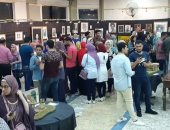 43 شاب وفتاة يقيمون معرضا للفنون بدكرنس من مصروفهم الشخصى