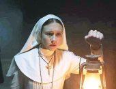 """فيديو.. تجسيد شخصية """"الراهبة"""" فى دور العرض ترويجا لفيلم The Nun بمصر"""