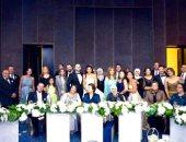 """تامر حسنى والعسيلى والليثى ودينا يشعلون حفل زفاف """"عمر"""" و""""ياسمينا"""""""
