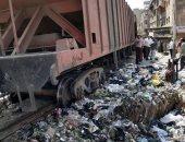خروج 4 عربات من قطار بضائع فى إمبابة دون وقوع إصابات