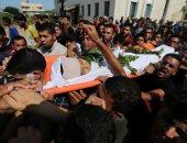 الفلسطينيون يودعون جثامين شهداء جمعة انتفاضة الأقصى