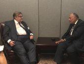 وزير الخارجية يبحث مع نظيره الفنلندى الأوضاع فى ليبيا وسوريا وفلسطين