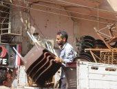 """إزالة إشغالات متنوعة وإغلاق محل خمور بحملة مرافق فى الدقهلية """"صور"""""""