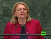 وزيرة خارجية النمسا تستهل خطابها أمام الجمعية العامة للأمم المتحدة بالعربية