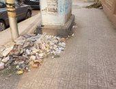 قارئ يشكو من انتشار القمامة بشارع الثورة بمنطقة الدقى
