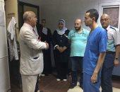 صور.. جولة مفاجئة لوكيل صحة بنى سويف على مستشفى الواسطى المركزى