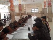 """صور.. فرع """"محو الأمية"""" بالغردقة يعقد امتحانات للمجندين بقوات الأمن المركزى"""