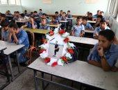 قصة صورة.. شهيد فلسطينى حاضرا فى فصله الدراسى بمدرسة خان يونس
