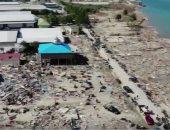 شاهد.. طائرة دون طيار تظهر الدمار الهائل لزلزال وتسونامى إندونيسيا