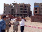 صور.. وزير التعليم العالى يتفقد إنشاءات جامعة الملك سلمان بجنوب سيناء