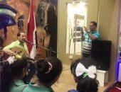 شاهد.. الجمهور يتفاعل مع بلادى بلادى فى الجناح المصرى بمعرض عمان